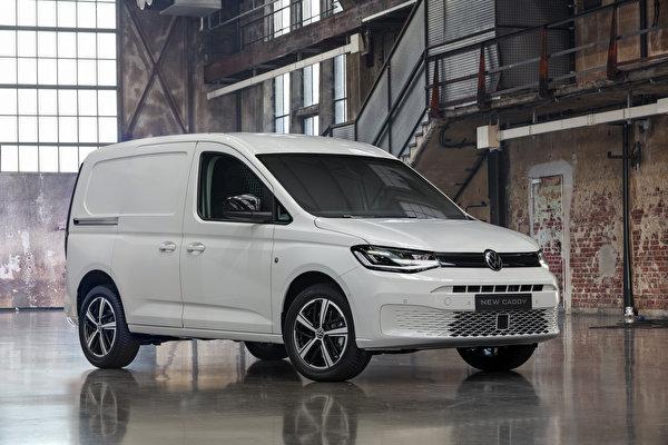 Обои для рабочего стола Volkswagen 2020 Caddy Kasten Worldwide белая Металлик Автомобили 600x400 Фольксваген Белый белые белых авто машины машина автомобиль