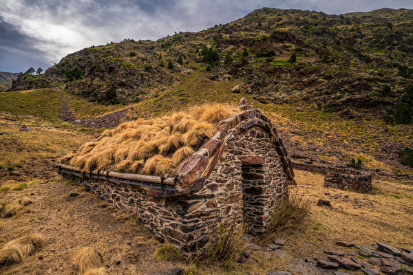 Картинки Андорра Coma Pedrosa National Park Горы Природа Парки Камень 600x400 гора парк Камни