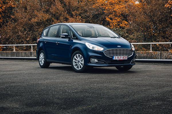 Обои для рабочего стола Ford Универсал S-MAX, 2019-- синие Металлик Автомобили 600x400 Форд синяя Синий синих авто машины машина автомобиль