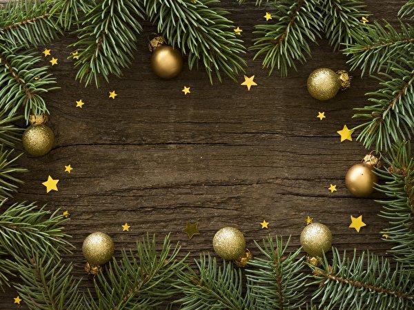 Фотография Новый год Звездочки Ветки Шарики Шаблон поздравительной открытки 600x450 Рождество Шар ветвь ветка на ветке