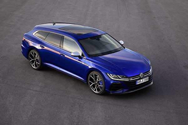 Обои для рабочего стола Volkswagen 2020 Arteon Shooting Brake R Worldwide Синий Металлик Автомобили 600x399 Фольксваген синяя синие синих авто машины машина автомобиль