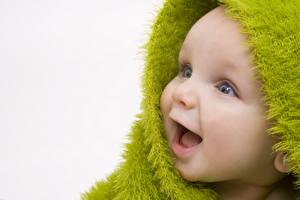 Фотографии Младенца Смотрят Улыбается Смех ребёнок