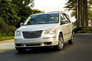 Фотографии Chrysler Фары Спереди town country 2008 машина