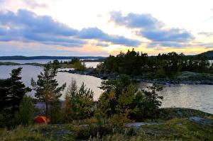 Картинки Пейзаж Речка Россия Karelia Природа