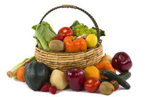 Фотографии Овощи Корзина Еда