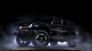 Обои Jeep Черный Wrangler Dragon design 2012 Автомобили