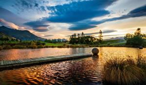 Картинки Озеро США Пейзаж Мичиган Thickened Huron Природа