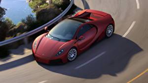 Фотография GTA Spano Дороги Красный Дорогие 2012 Машины 3D_Графика
