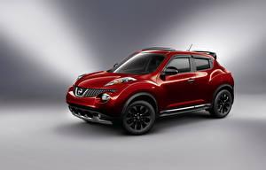 Фотография Nissan Красных Металлик Сбоку 2012 Juke ( YF15 ) Midnight Edition Автомобили