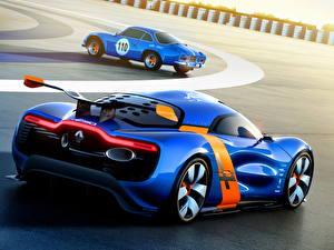 Фото Renault Синий Вид сзади 2012 Alpine A110-50 Автомобили