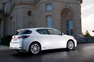 Фотографии Lexus Белый Сбоку 2011 CT 200h Машины