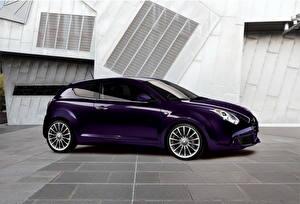 Обои Alfa Romeo Фиолетовый Металлик Сбоку 2012 MiTo 0.9 TwinAir авто
