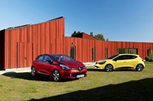Обои Рено Красный Трава 2012 Clio
