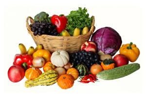 Картинки Овощи Корзины Еда