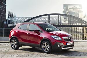 Фото Opel Темно красный Металлик Сбоку 2012 Mokka Turbo 4x4 авто