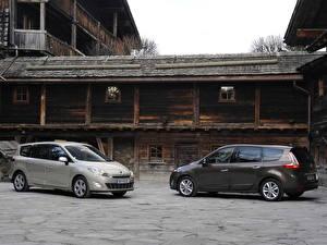 Фотография Renault Здания Деревянный 2009 Grand Scenic