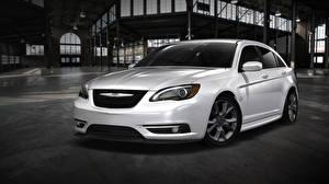 Картинки Chrysler Белых Спереди 2012 200 Super S авто