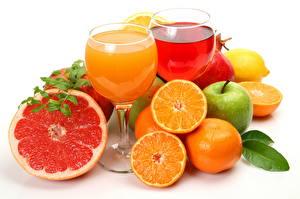Обои Напитки Сок Цитрусовые Апельсин Грейпфрут Бокалы Продукты питания