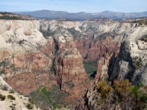 Фотография Парки Штаты Зайон национальнай парк Утес Utah