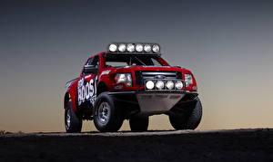 Фотографии Форд Красный Спереди 2011 F-150 EcoBoost авто