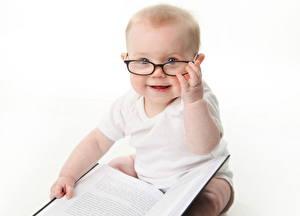Фотография Младенцы Очки Книга ребёнок