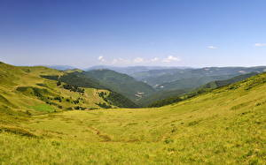 Фото Пейзаж Украина Небо Трава Карпаты