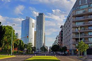 Картинка Аргентина Дороги Небоскребы Улица Buenos Aires Города