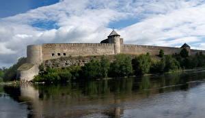 Фотография Россия Реки Крепость Ивангородская город