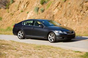 Картинки Lexus Серый Сбоку 2010 GS350 Авто