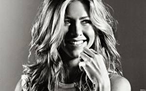 Картинка Jennifer Aniston Улыбается Взгляд Волос Лицо Знаменитости Девушки