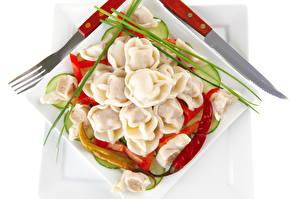 Фотографии Вторые блюда Пельмени Еда