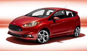 Обои для рабочего стола Ford Красная 2014 Fiesta ST машины