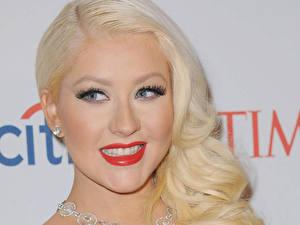 Фотографии Кристина Агилера Лицо Блондинка Улыбка Волосы Взгляд Девушки Знаменитости