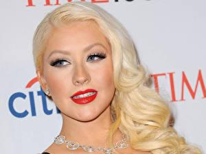 Фотография Christina Aguilera Лицо Блондинка Волосы Взгляд Музыка Девушки Знаменитости