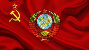 Фотография Флаг Герб СССР Серп и молот
