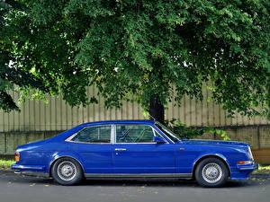 Фотографии Bentley Синяя Люксовые Сбоку 1988 Turbo R Empress II Sports Saloon авто