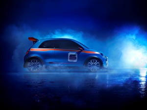 Фотография Renault Синий Сбоку Дымит 2013 TwinRun машины