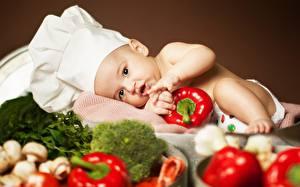 Картинка Овощи Грудной ребёнок Шляпа Дети