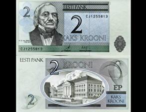 Картинки Деньги Купюры Эстония 2 kroon
