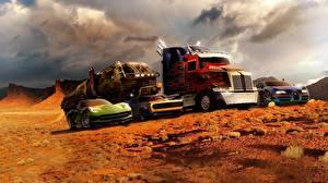 Фотография Трансформеры Грузовики кино Автомобили