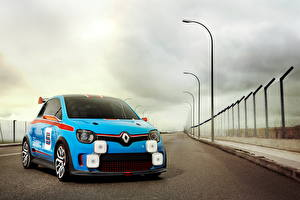 Картинки Renault Дороги Голубой 2013 t TwinRun Машины
