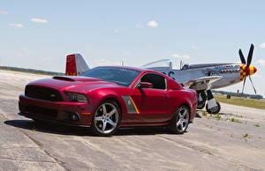 Фото Форд Бордовые 2013 Mustang SR P51 машина