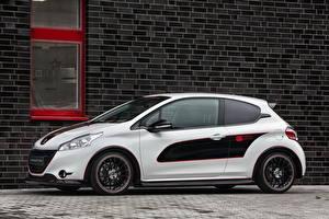 Обои Peugeot Белый Сбоку 2013 208 engarde Автомобили