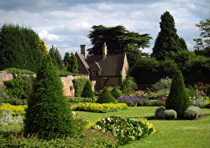Обои Сады Англия Ландшафт Дизайн Природа фото