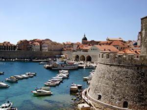 Фото Хорватия Лодки Пристань Дубровник