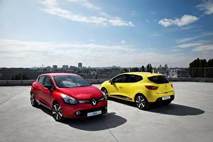 Фотография Рено Небо Красных Желтая 2012 Clio Автомобили