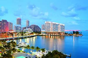 Обои США Побережье Майами Города фото
