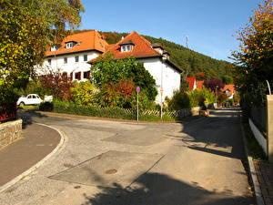 Обои Германия Дороги Улице Marburg Города