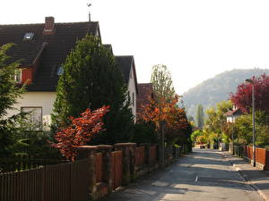 Картинка Германия Дороги Улице Marburg Города