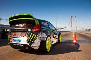 Фото Ford Мосты Дороги Вид Fiesta Машины